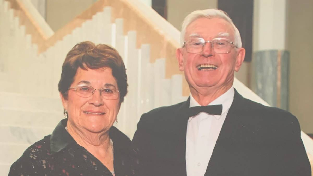 FAREWELL: The late Keith Thompson (right) with his wife Joy. Mr Thompson's huge contributions have been recognised.