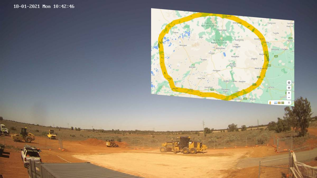 The site works at Hillston have started with the map (inset) showing the coverage area.